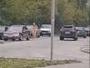 Очевидцы засняли на бульваре Гагарина голую женщину с маленьким ребенком