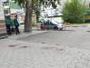 На улице Космической полицейские оцепили территорию возле одного из домов